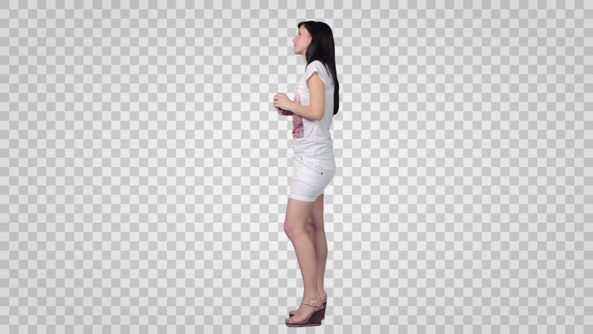 Side View Of A Person Standing PNG