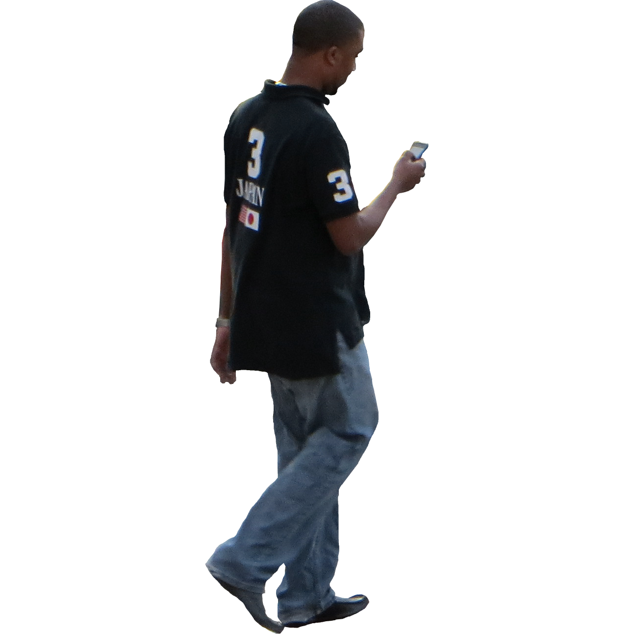 . PlusPng.com Texting-While-Walking.png PlusPng.com  - Side View Of A Person Standing PNG