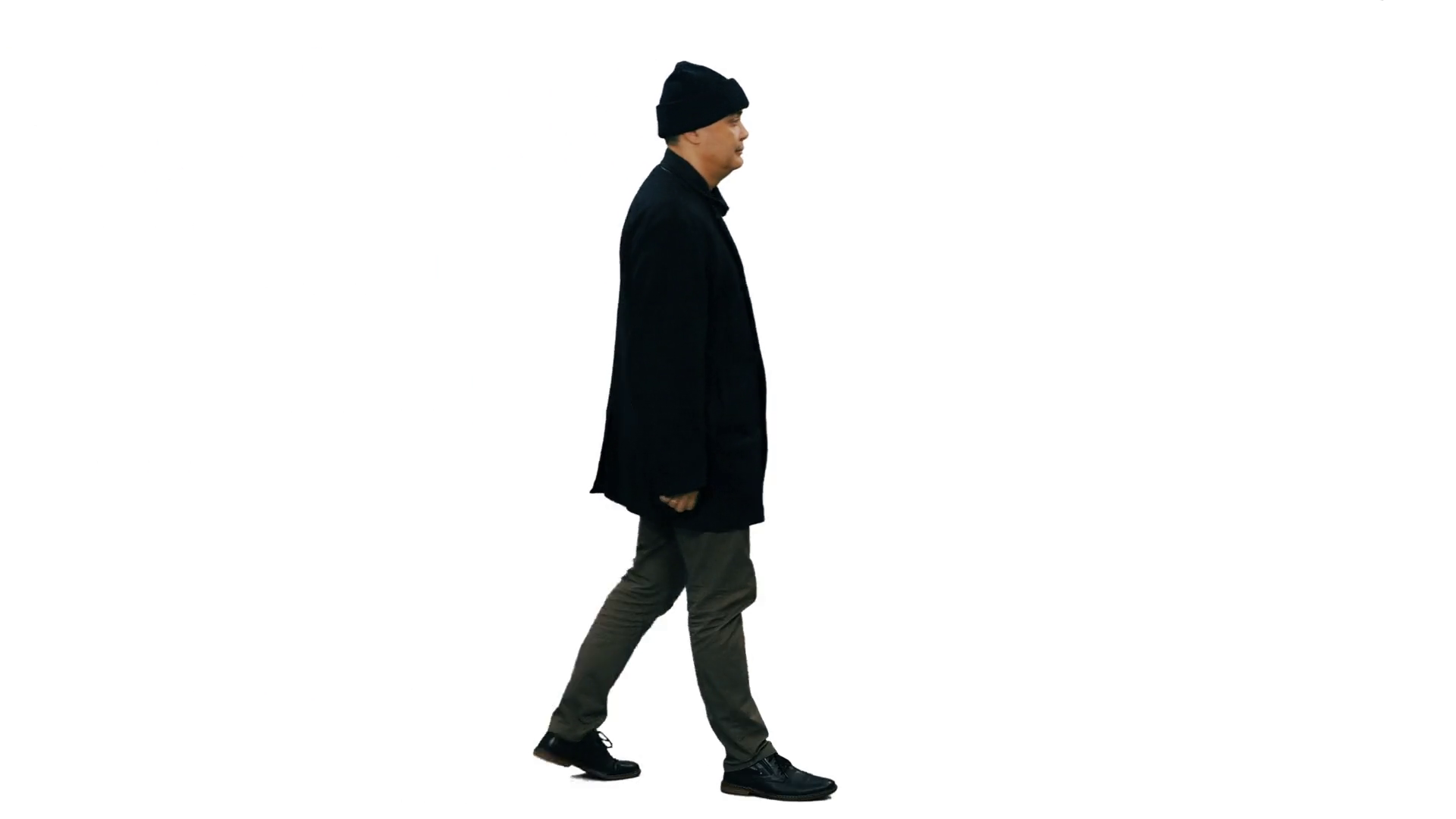 videoblocks-side-view-of-a-man-in-black- - Side View Of A Person Standing PNG