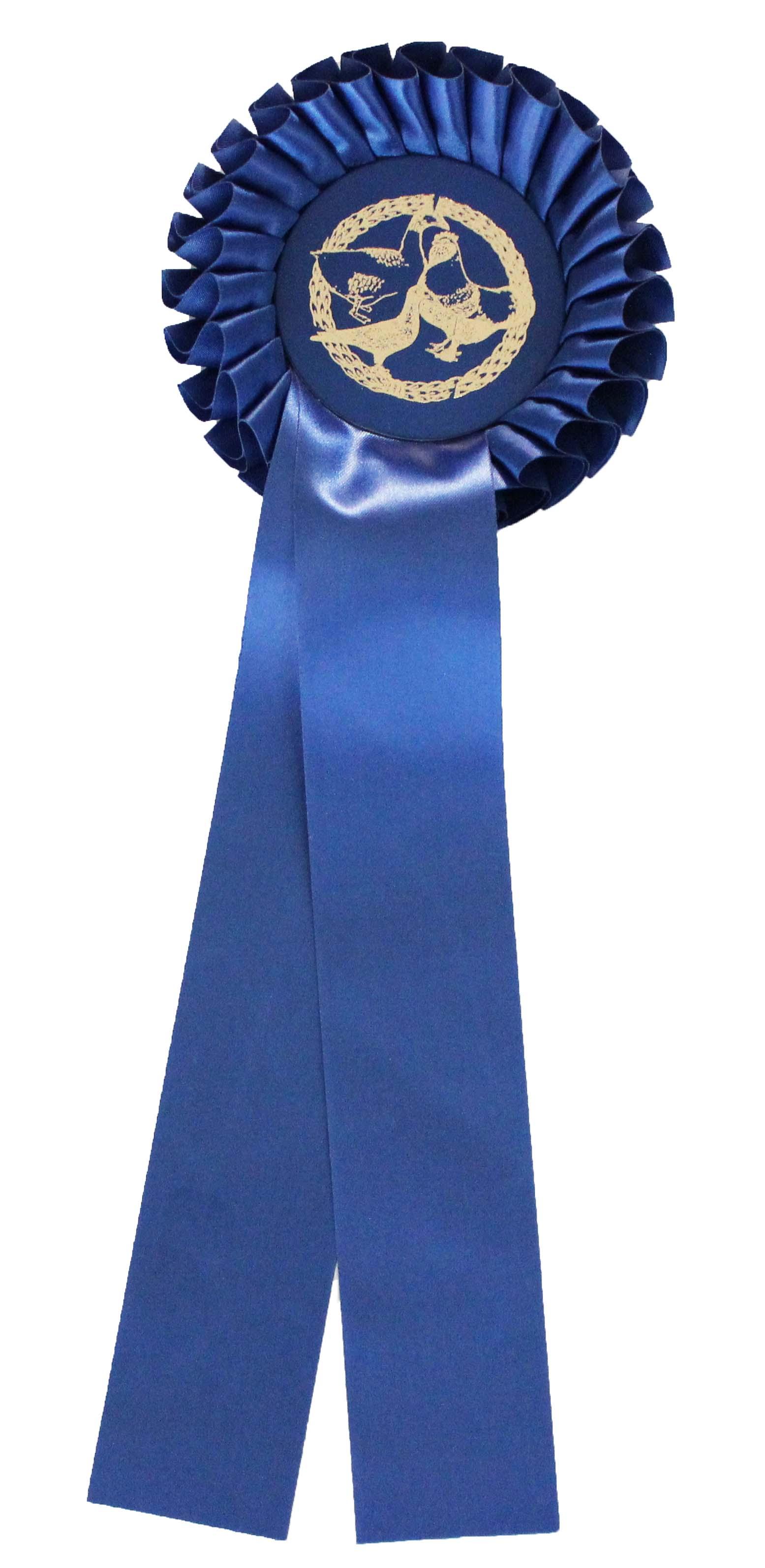 Siegerschleife Größe 1, mit einer Rosette und zwei Bänder (Preis pro Stück) - Siegerschleife PNG