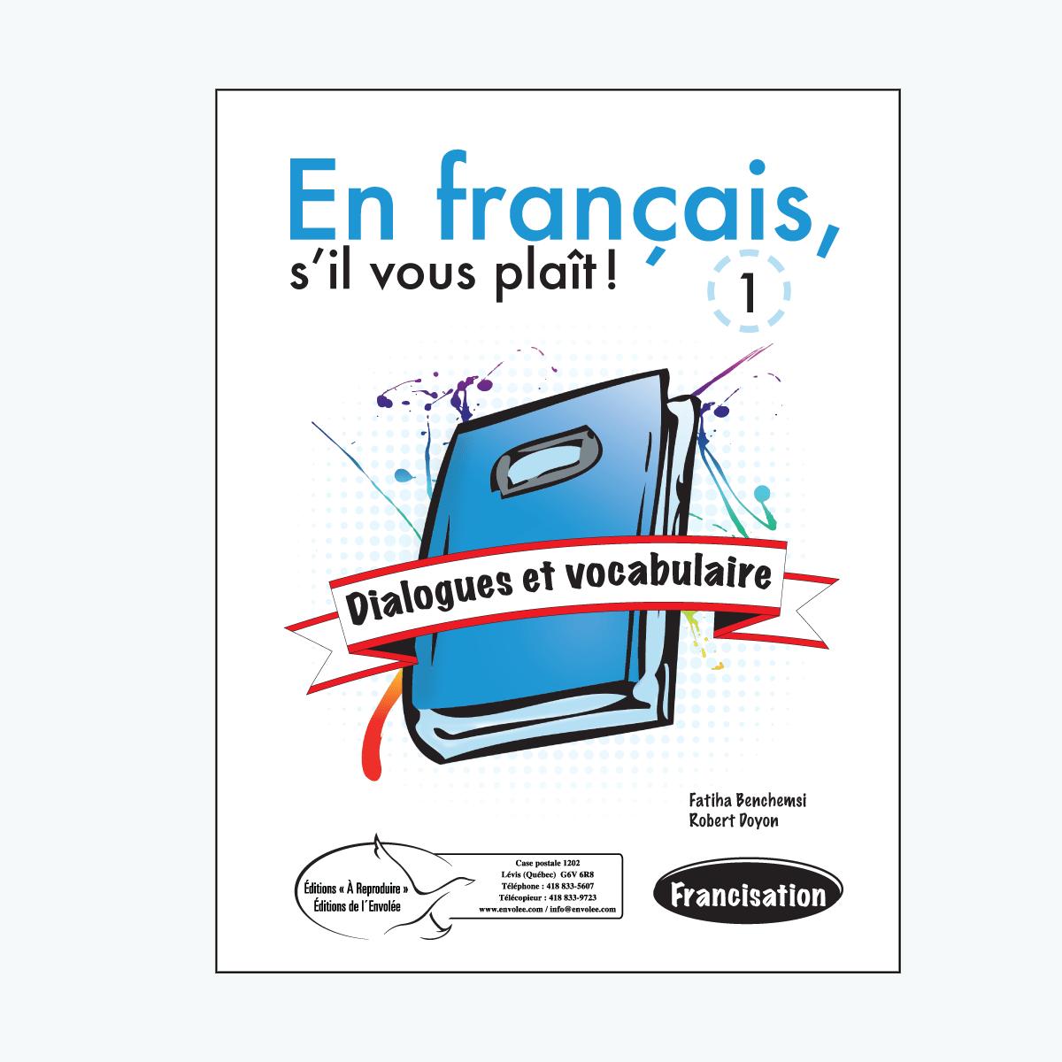 Dialogues et vocabulaire 1 En français, su0027il vous plaît ! Dialogues et  vocabulaire 1 - Sil Vous Plait PNG