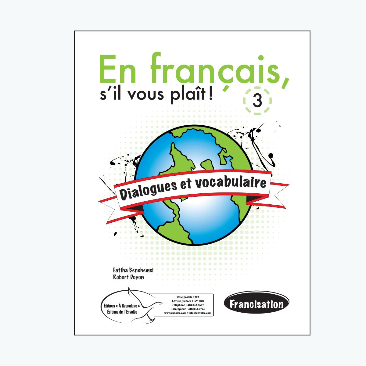 Dialogues et vocabulaire 3 En français, su0027il vous plaît ! Dialogues et  vocabulaire 3 - Sil Vous Plait PNG