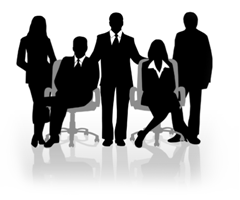 Silhouette of office workers - Office Management PNG