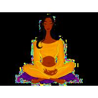 Buddhist meditation pose icon