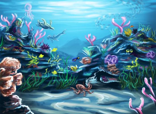 550x400 Coral Reef Wallpaper by OoZepheroO on DeviantArt - Simple Coral Reef PNG