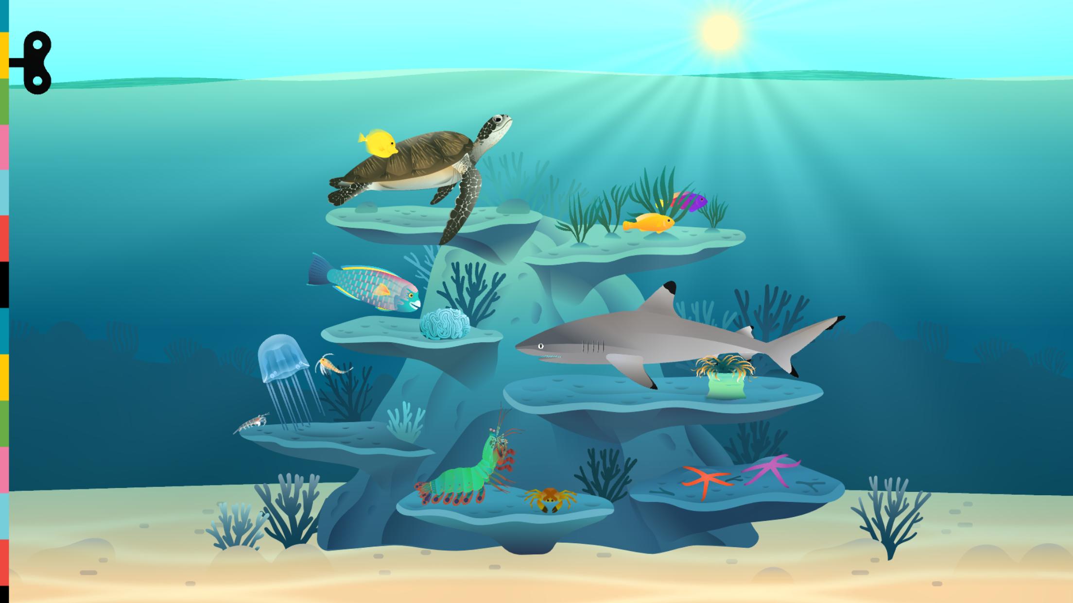 El10 Banner - Simple Coral Reef PNG