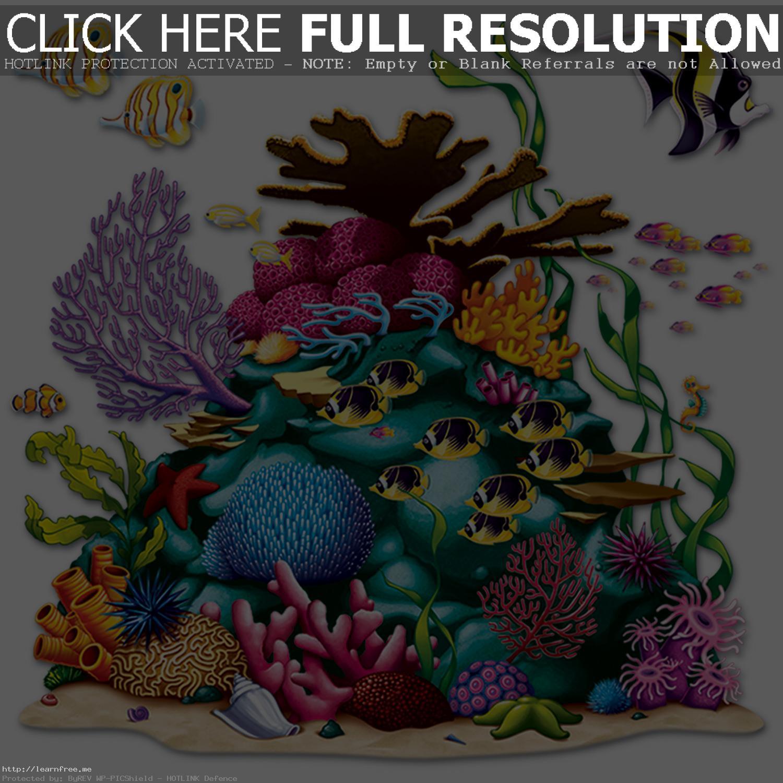Under The Sea Coral Reef Prop In Drawing - Simple Coral Reef PNG