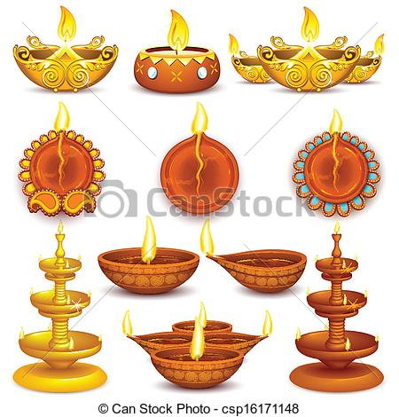 . PlusPng.com Collection of Diwali Decorated Diya - illustration of. - Simple Diya PNG