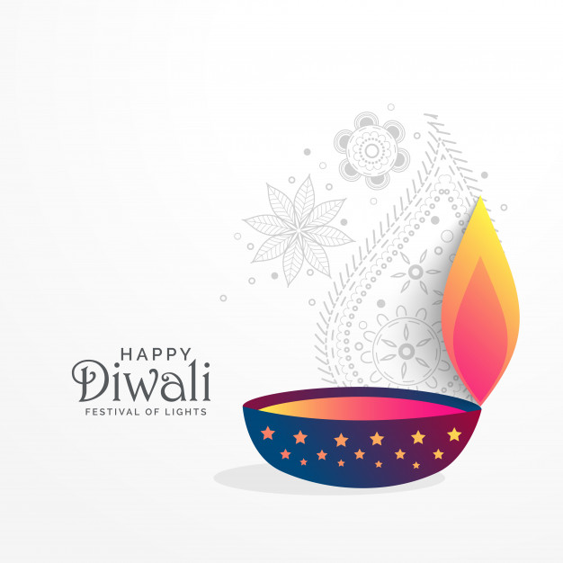 Creative diwali festival greeting background with diya - Simple Diya PNG
