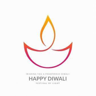 Diwali colorful symbol - Simple Diya PNG