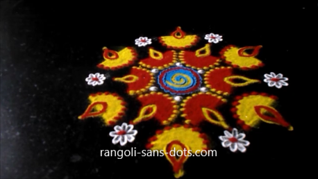 Diya-rangoli-designs-for-Diwali-1d.png - Simple Diya PNG