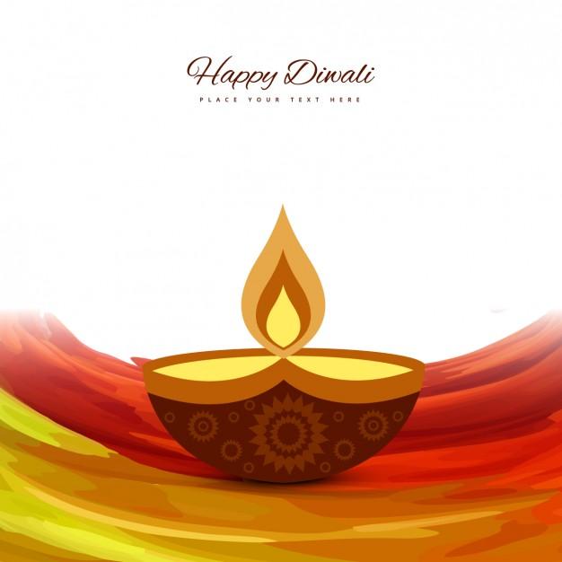 Flame Diwali background - Simple Diya PNG