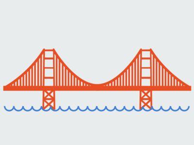 Golden Gate Bridge - Simple Golden Gate Bridge PNG