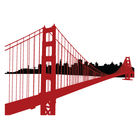 Simple Golden Gate Bridge PNG