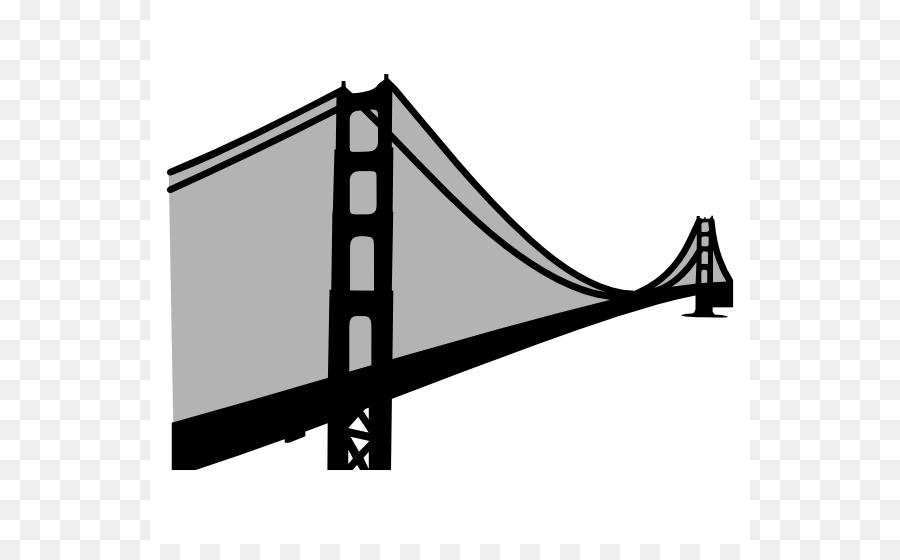Golden Gate Bridge Suspension bridge Clip art - Simple Bridge Cliparts - Simple Golden Gate Bridge PNG