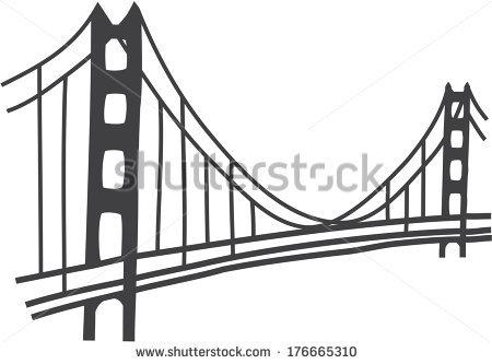 golden gate bridge vector - Simple Golden Gate Bridge PNG