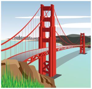 Goose gate bridge clipart · Simple golden PlusPng.com  - Simple Golden Gate Bridge PNG