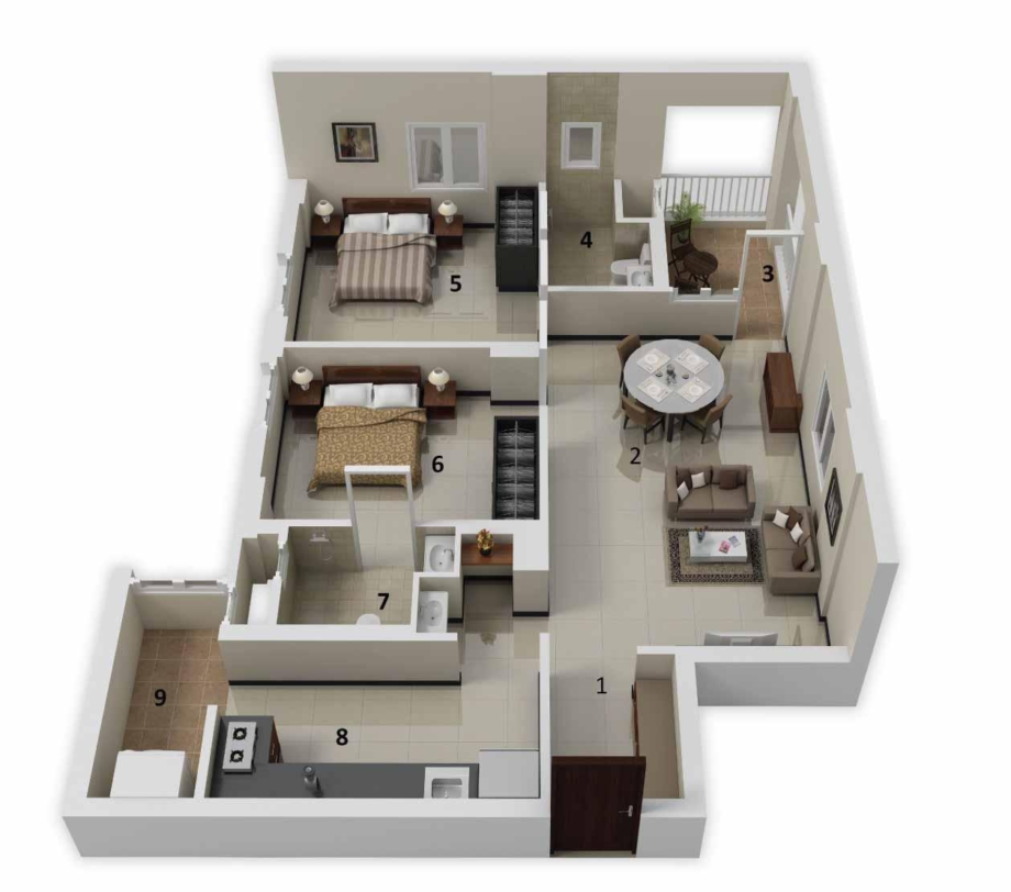 More Bedroomfloor Plans Pictures Simple House Plan 2 Bedroom Hd Gallery  Apartment - Simple House PNG HD