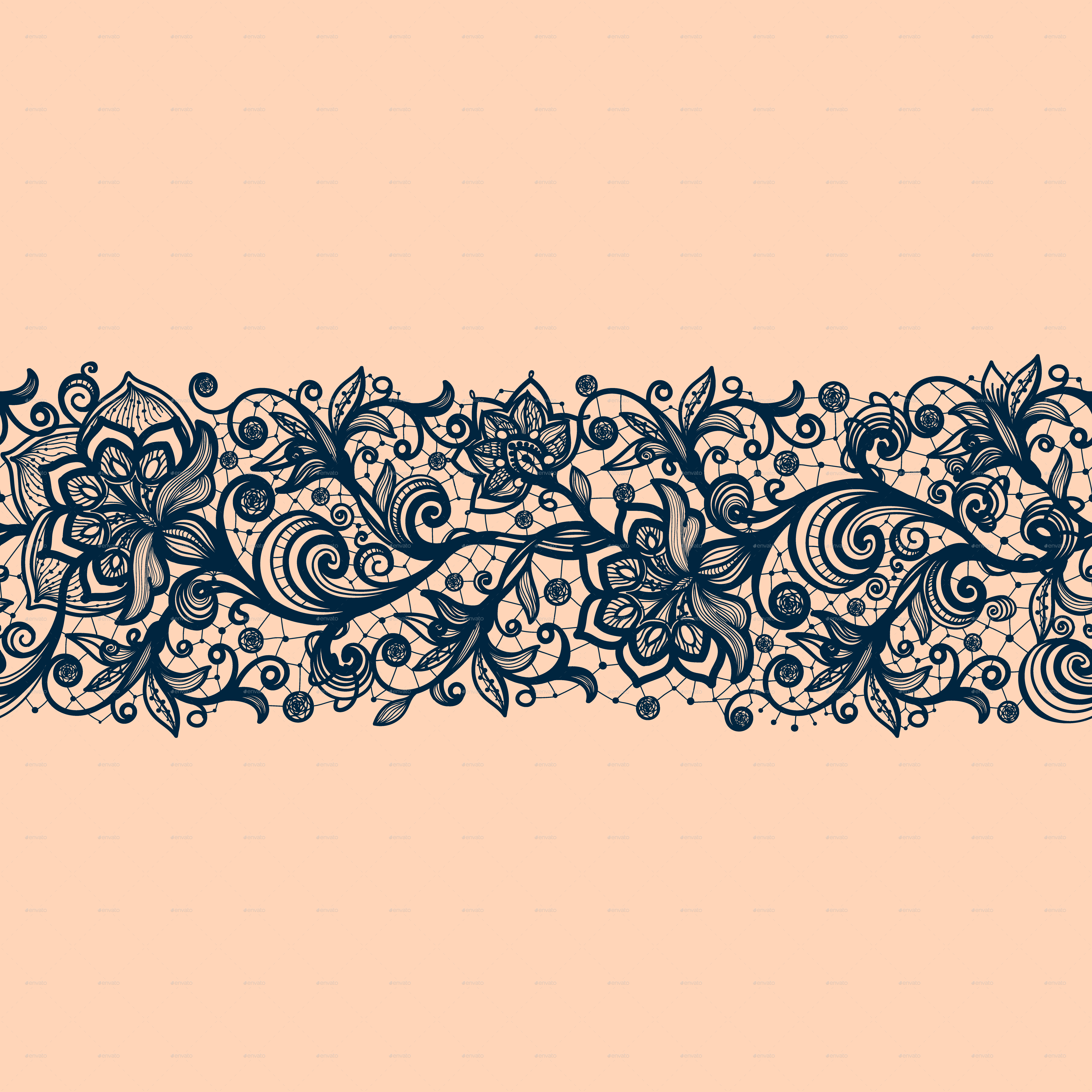 Simple Lace Patterns PNG - 44437
