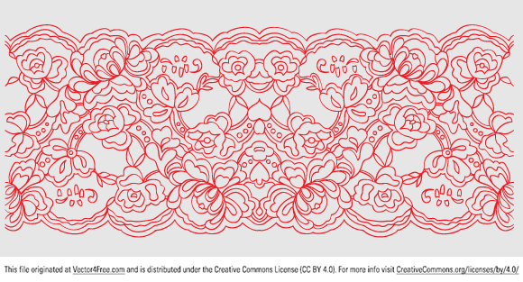 Great Lace Pattern In A Vector Format. It Was Hand Traced And Trimmed To  Create - Simple Lace Patterns PNG