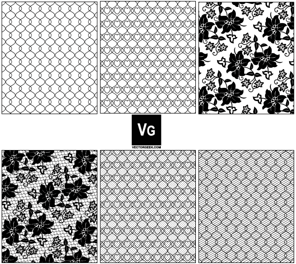 Lace and Mesh Vector Pattern