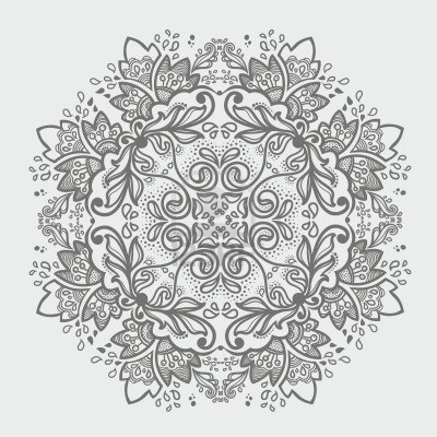 Ornamental Round Floral Lace Pattern. Kaleidoscopic Floral Pattern,  Mandala. Stock Photo - Simple Lace Patterns PNG