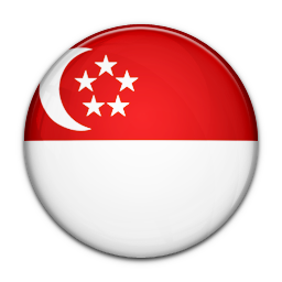 128x128 px, Flag Of Singapore Icon 256x256 png - Singapore PNG