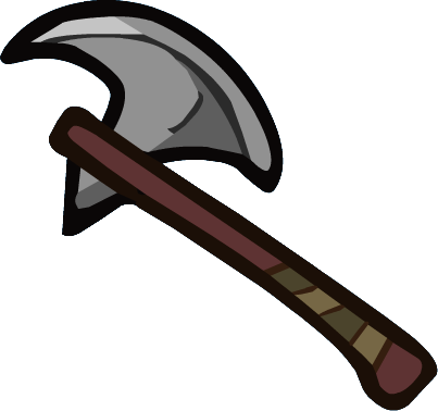 Single Battle Axe.png - Axe PNG