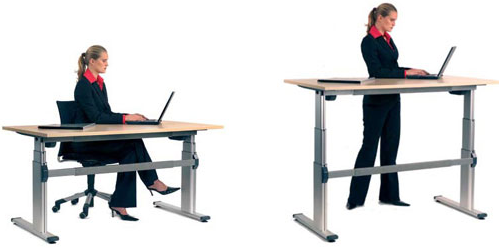 Height adjustable desks are the optimal choice for alternating between  postures, however, one drawback is that they come at a steeper price point. - Sit At Desk PNG