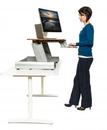 Professionals report increased energy by alternating between sitting and  standing - Sit At Desk PNG