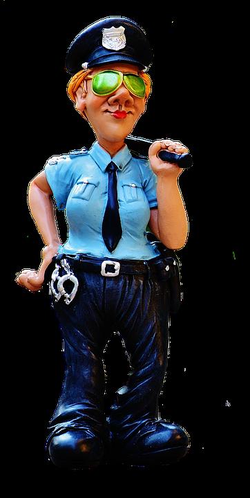 Figur, Politi, Sjov, Ensartet, Politiassistent - Sjove Figurer PNG