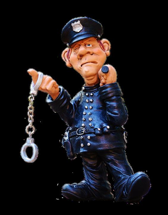 Figur, Politi, Sjov, Ensartet, Politimand - Sjove Figurer PNG