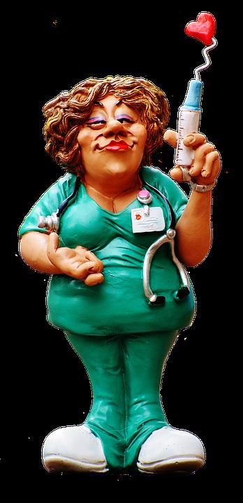 Sygeplejerske, Figur, Sjov, Valentinsdag, Dekorative - Sjove Figurer PNG