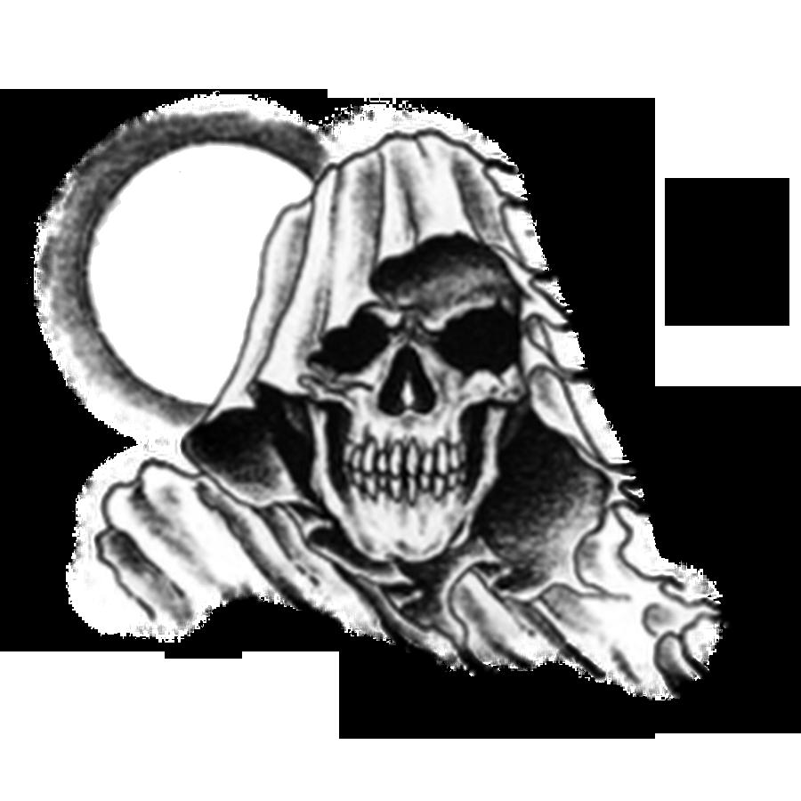 Skull Tattoo PNG-PlusPNG.com-900 - Skull Tattoo PNG