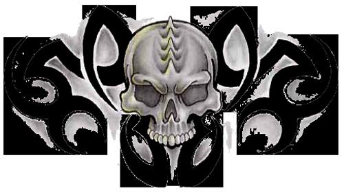 Skull Tattoo PNG - 15597
