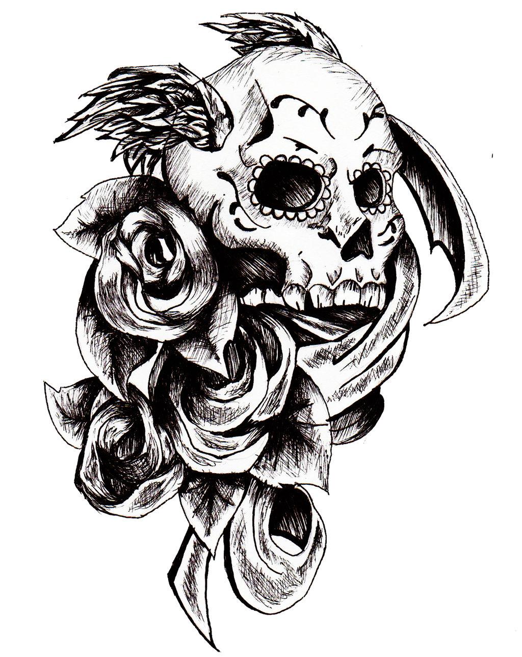 Skull Tattoo PNG - 15607