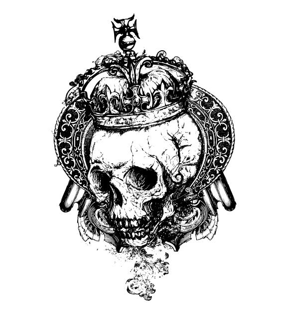 Skull Tattoo PNG - 15609