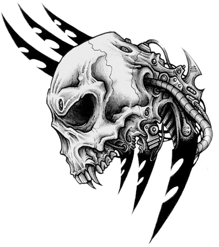 Skull Tattoo Png Picture PNG Image - Tribal Skull Tattoos PNG