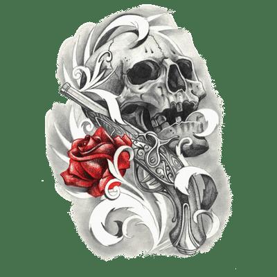 Skull Tattoo PNG - 15608