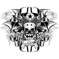 Skull Tattoo PNG - 15600