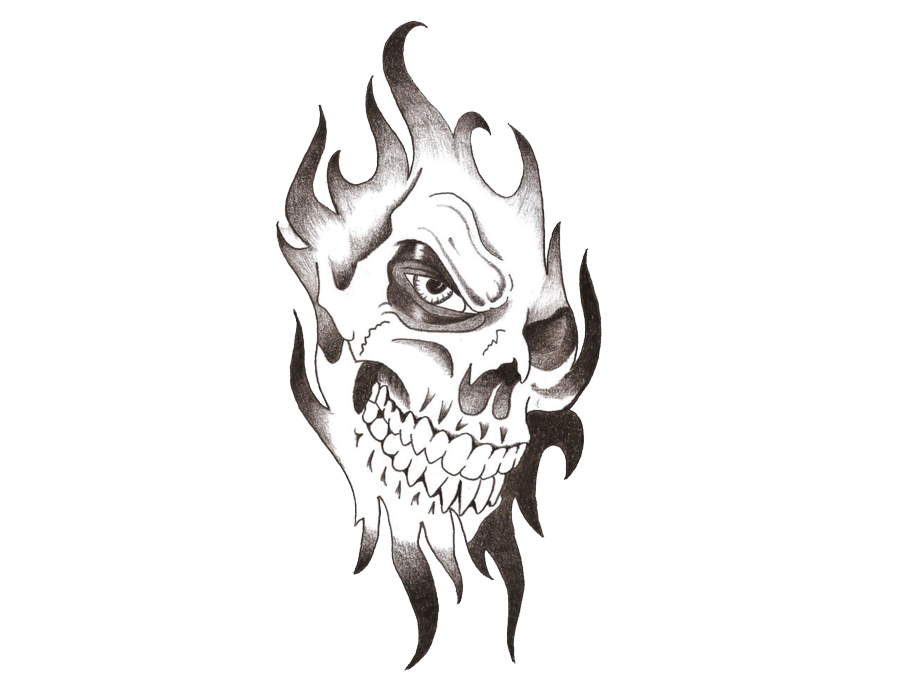 040-vector-tribal-skull-tatto
