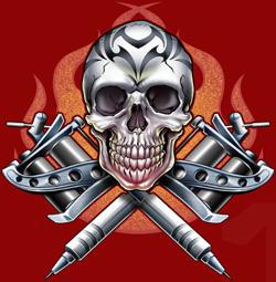 Skull Tattoo PNG - 15601
