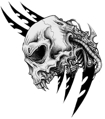 Skull Tattoo PNG - 15590