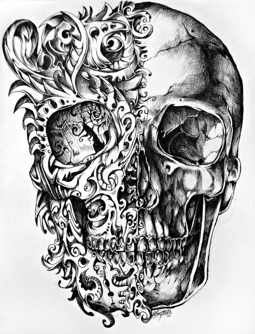 Skull Tattoo PNG - 15596