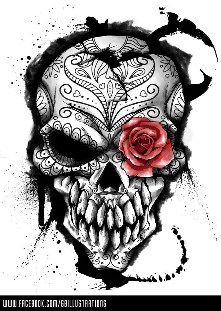 Tattoo - Skull Tattoo PNG