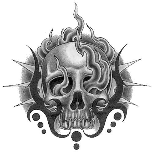 Skull Tattoo PNG - 15598