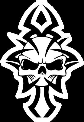 Skull Tattoo PNG - 15602