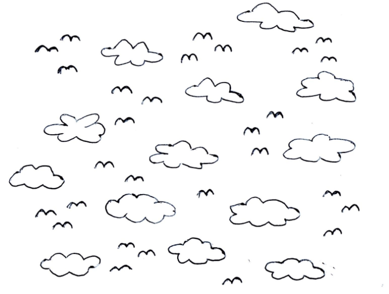 Sky PNG Black And White - 86956