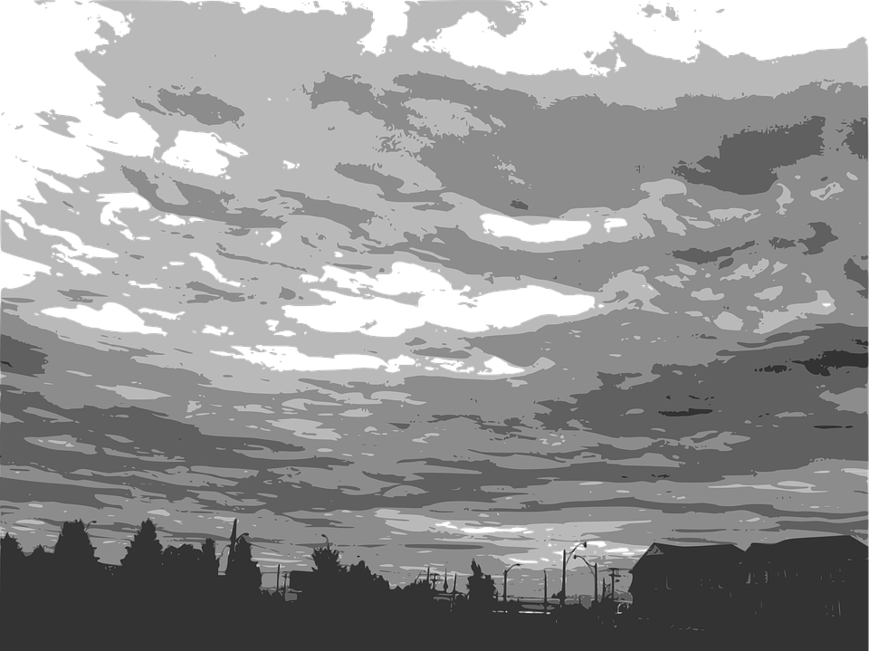 Sky PNG Black And White - 86950