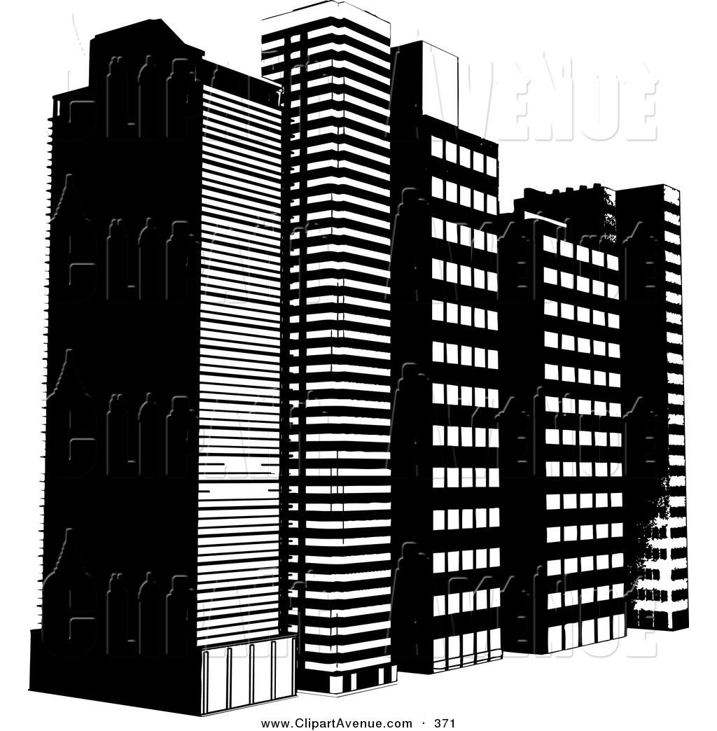 Skyscraper PNG Black And White - 87005